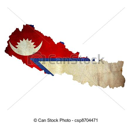 Clipart of Map of Nepal isolated csp8704471.