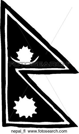 Clipart of Nepal Flag nepal_fl.
