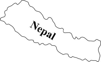 Nepal map clipart free.