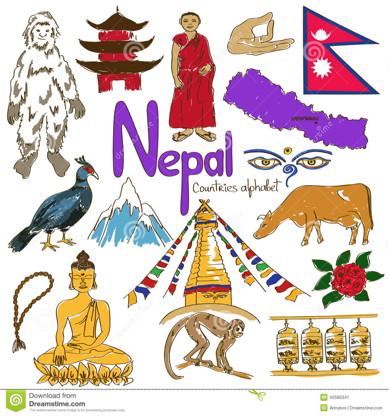 Nepal Stock Illustrations.