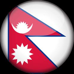 Nepal flag clipart.