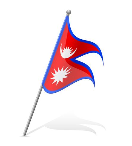 flag of Nepal vector illustration.