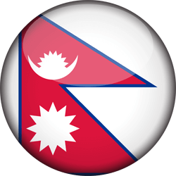 Nepal flag icon.