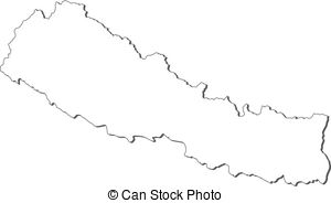 Map of nepal Vector Clipart Royalty Free. 467 Map of nepal.