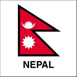 Clip Art: Flags: Nepal Color I abcteach.com.