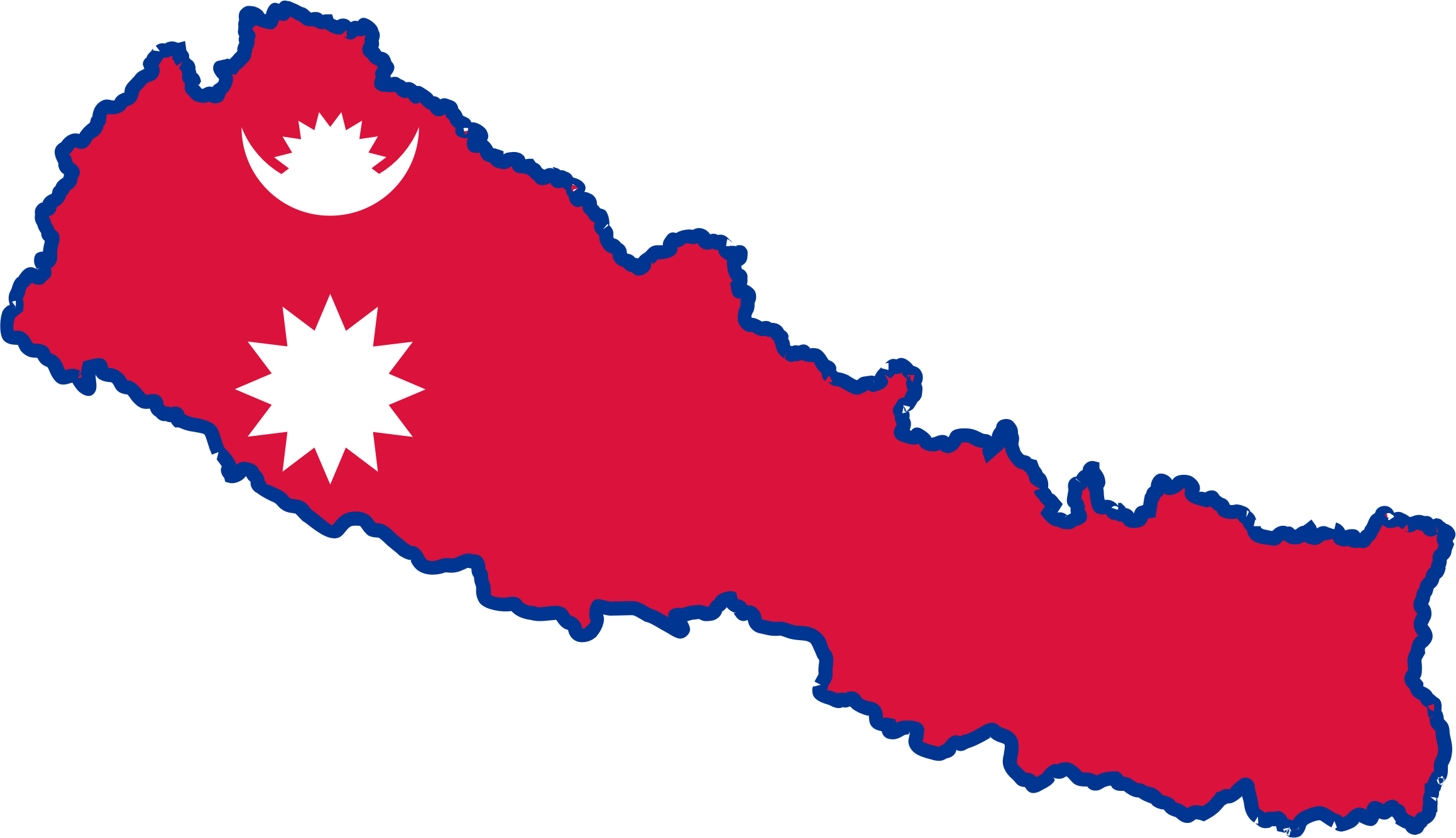 Province No. 7 Flag of Nepal Clip art.