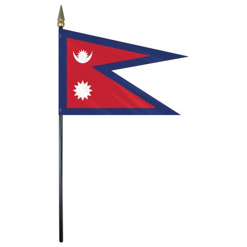 Nepal Stick Flag.