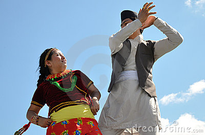 Nepalese Male Traditional Dancers Editorial Stock Image.