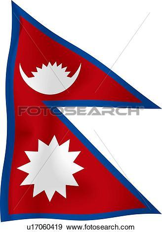 Stock Illustration of Nepali flag u17060419.
