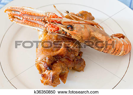 Stock Photography of Trotters with Nephrops norvegicus k36350850.