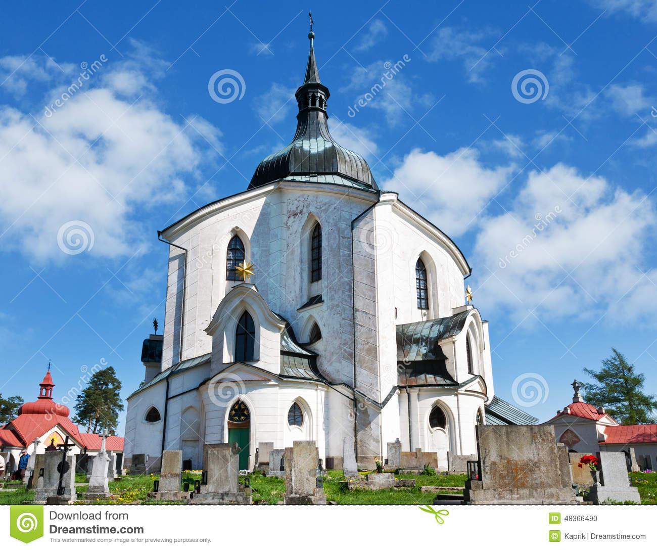 Church Of St. John Of Nepomuk, Zelena Hora, UNESCO,Zdar Nad Saza.