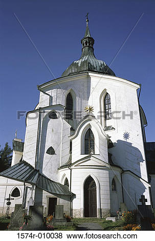 Pictures of Pilgrimage Church of St. John of Nepomuk Zelena Hora.