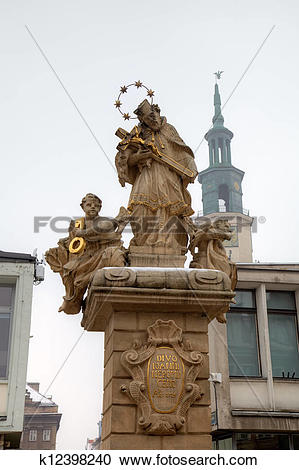 Stock Photography of Statue of Saint John of Nepomuk k12398240.