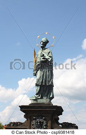 Pictures of St. John of Nepomuk in Prague.