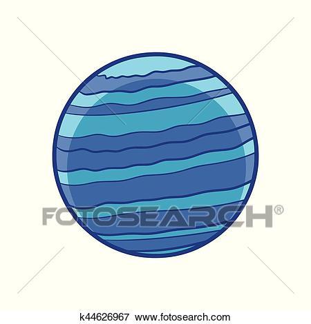 Planet neptune Clip Art.