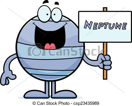 Vector of Cartoon Neptune Sign.