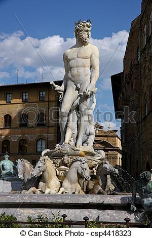 Stock Photos of Italy, Tuscany, Florence. Piazza della Signoria.