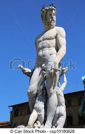 Stock Photo of Neptune Fountain Florence.