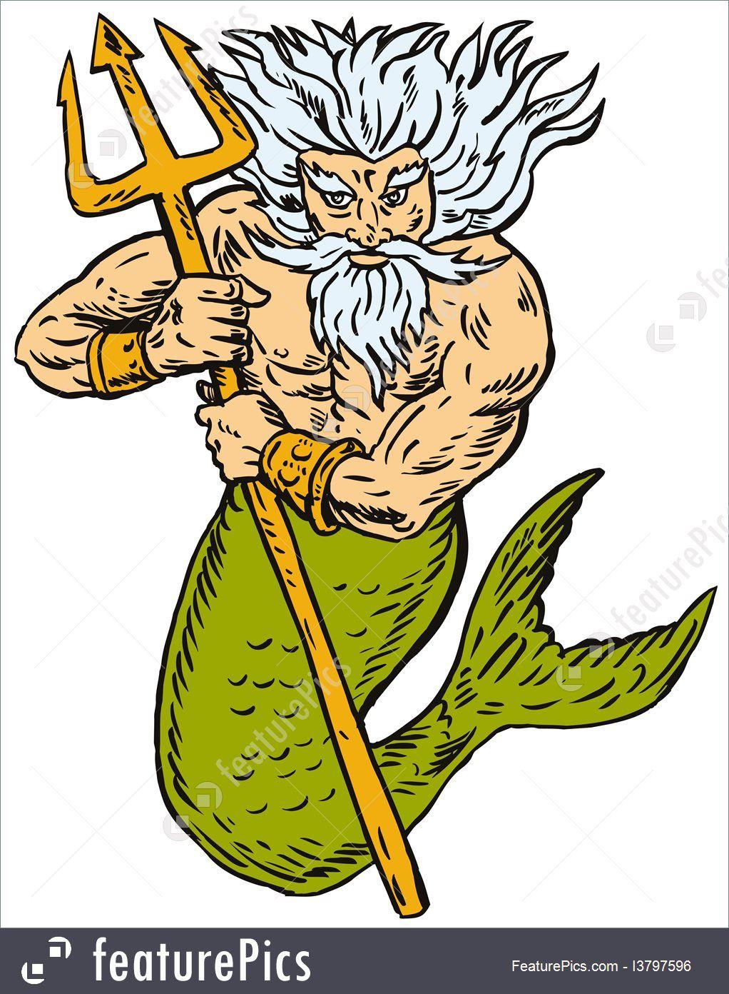 King Neptune Clipart.