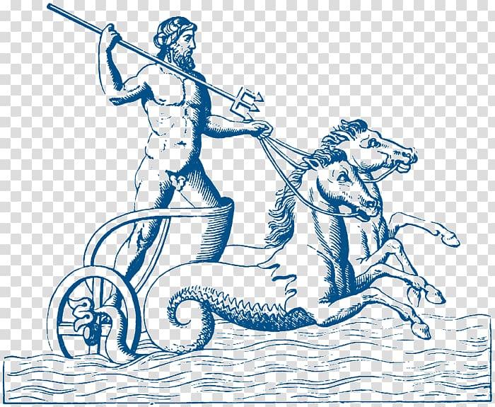 Poseidon Neptune Greek mythology Ancient Greece Chariot.