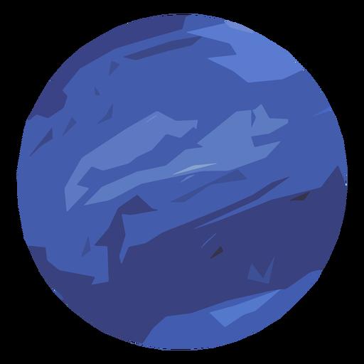 Neptune planet icon.