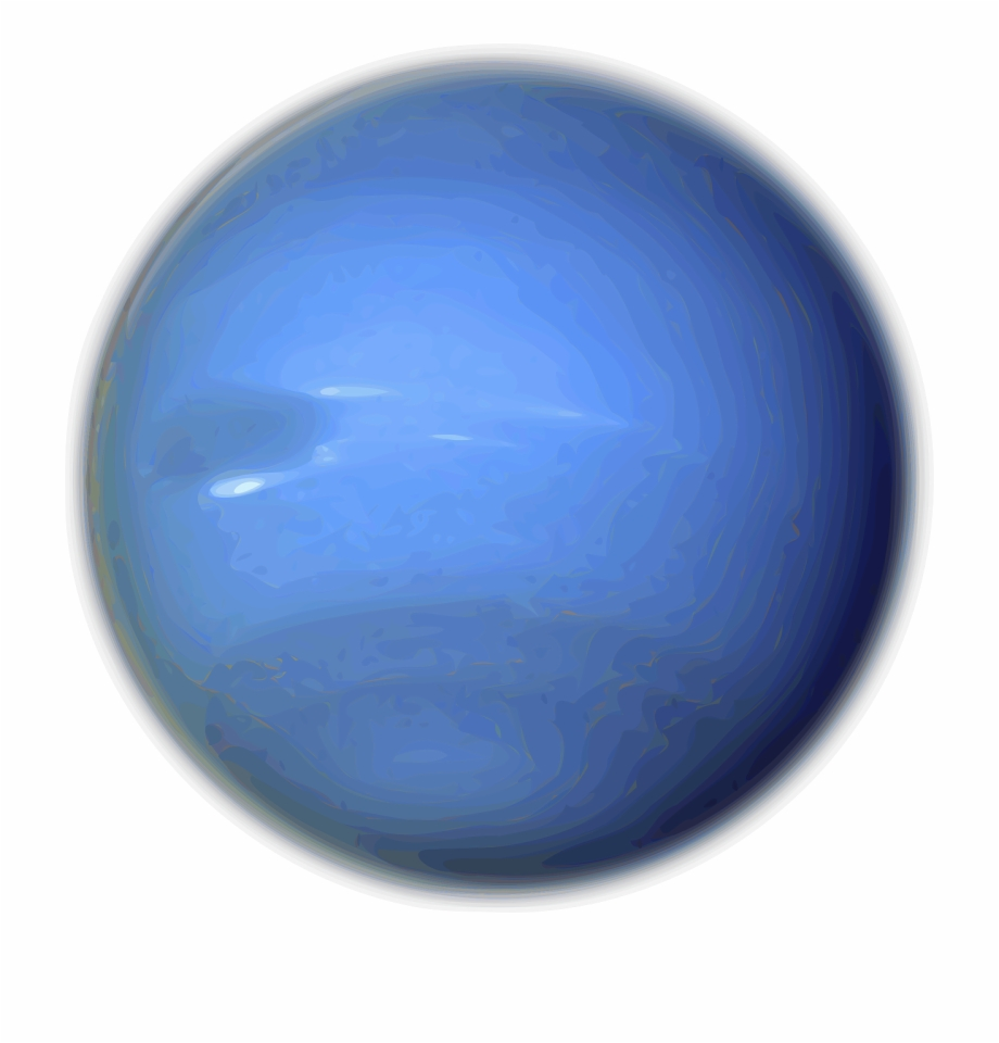 Neptune Solar System Planet Png Image.