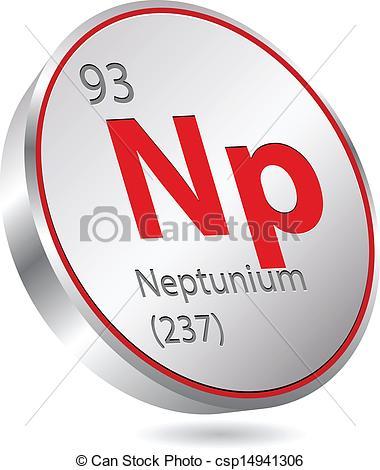 Vector Clipart of neptunium element csp14941306.