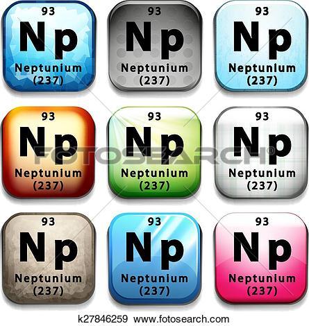 Clip Art of Neptunium k27846259.