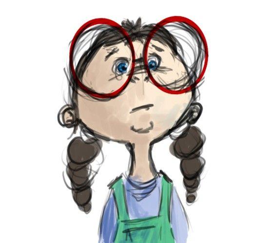 Image result for nerd girl clipart.