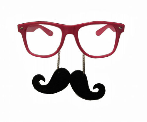 Nerd Glasses With Mustache.