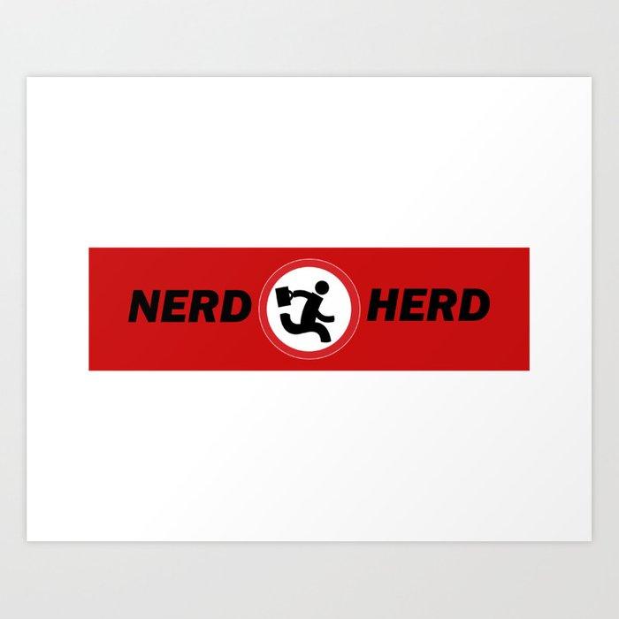Nerd herd, Chuck Art Print by gloriagv.