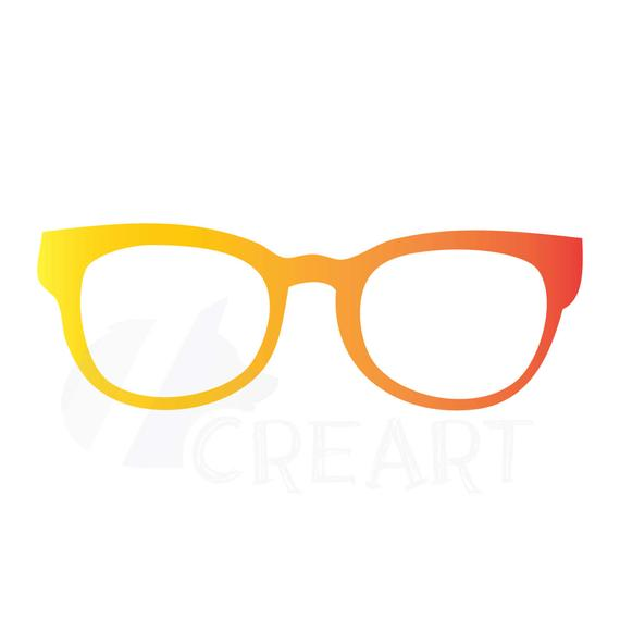 Glasses Clipart, Hipster, Nerdy Clip Art, Instant digital download PNG  files..