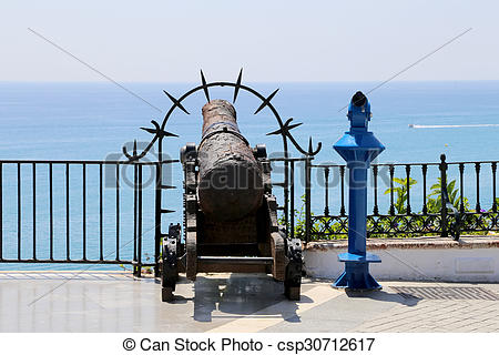 Stock Photography of Balcon de Europa in Nerja, Spain csp30712617.