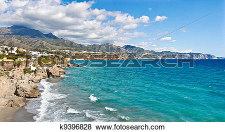 Pictures of Nerja Beach and City.