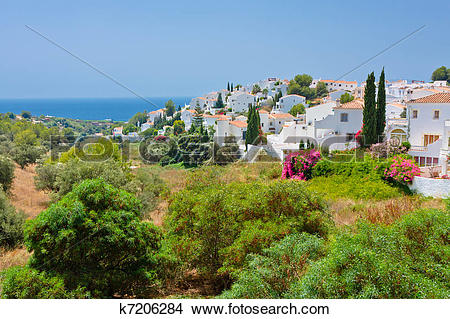 Stock Photo of Spanish landscape, Nerja, Costa del Sol, Spain.