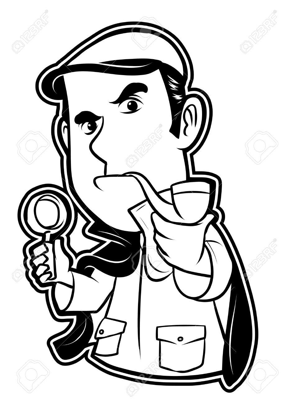 In Bianco E Nero Clipart Detective Clipart Royalty.