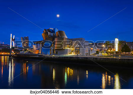 "Stock Images of ""Guggenheim Museum Bilbao, by Frank Gehry, Nervion."