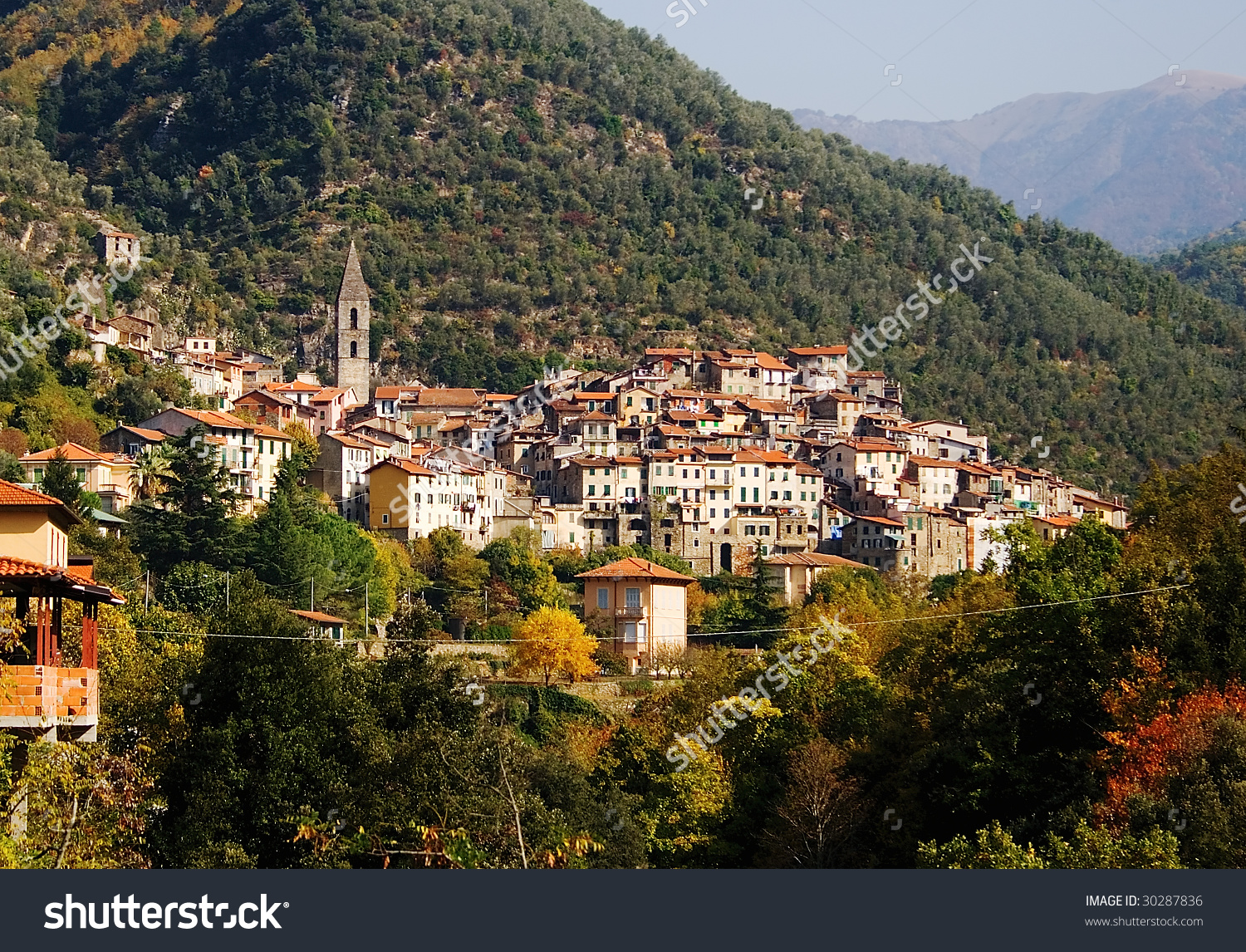Pigna Medieval Town Valle Nervia Liguria Stock Photo 30287836.