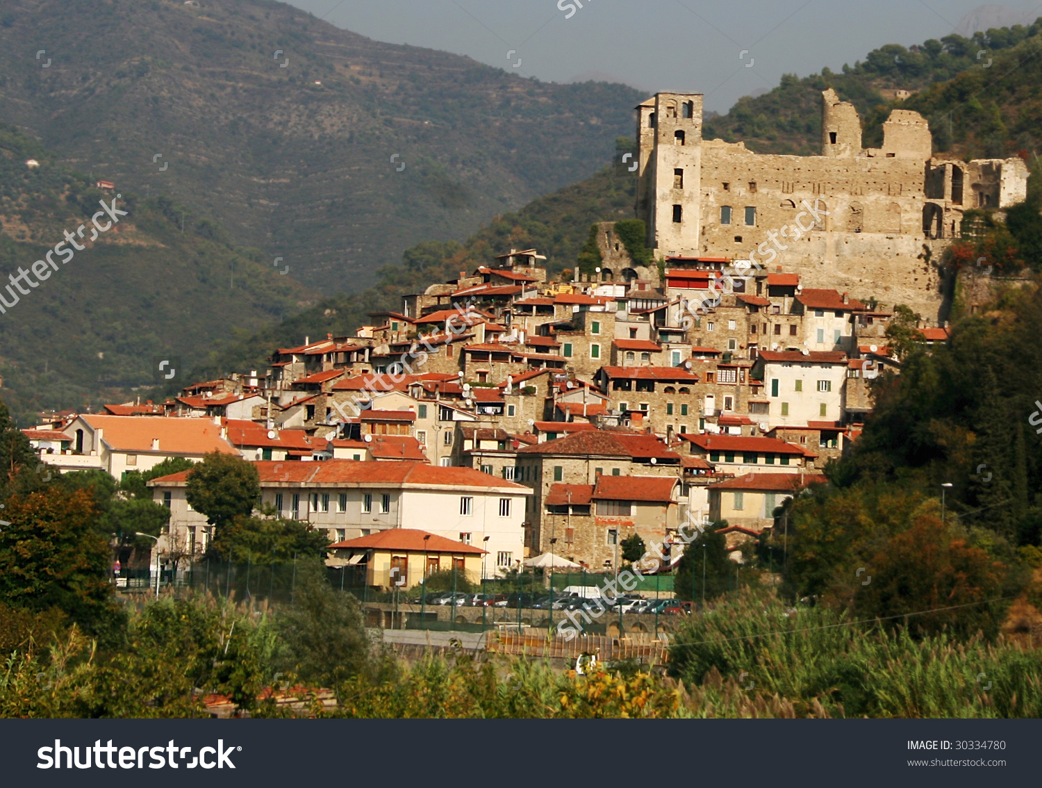 Dolceacqua, A Medieval Town In The Valle Nervia, Liguria, Italy.