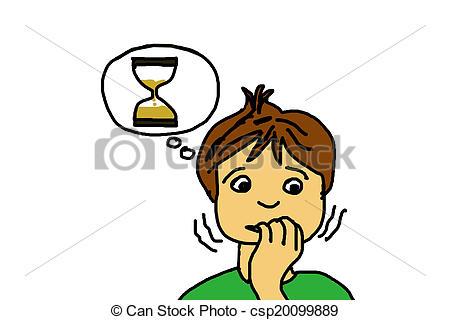 Stock Illustration of nervous child csp20099889.