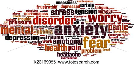 Clipart of Anxiety word cloud k23169055.