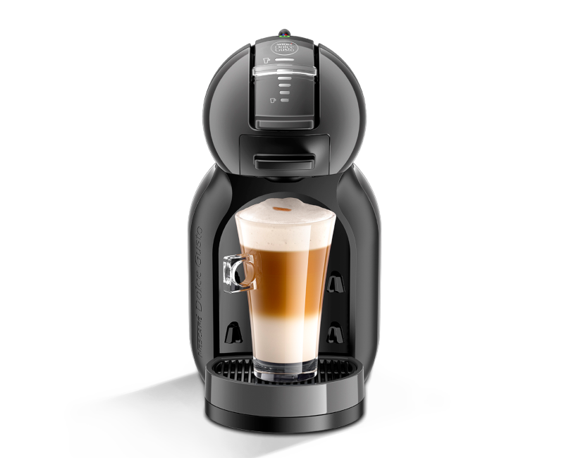NESCAFÉ Dolce Gusto Mini Me Automatic Coffee Machine Black and Grey with  Free Box of Cafe Au Lait.