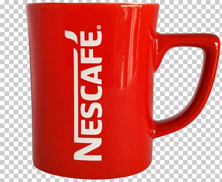 Coffee cup Tea Mug Nescafé, Nescafe red mug coffee , red.