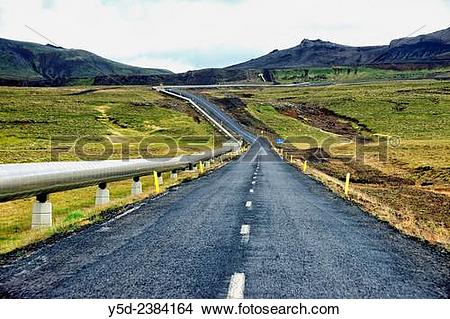 Stock Photo of inland of Iceland, on a road number 435 to.