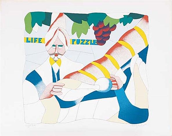 Life puzzle by Ugo Nespolo on artnet.