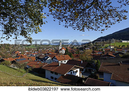 "Picture of ""Townscape of Nesselwang, Allgau, Bavarian Swabia."