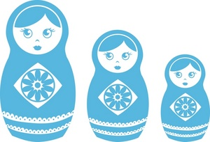 Clipart Russian Nesting Dolls.