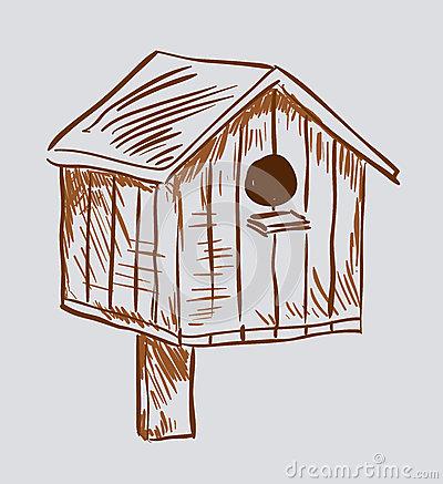Nest Box Birdhouse Royalty Free Stock Images.