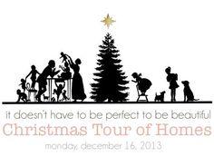 Vintage Christmas Tree Graphics Indie Boho Style Xmas Silhouette.