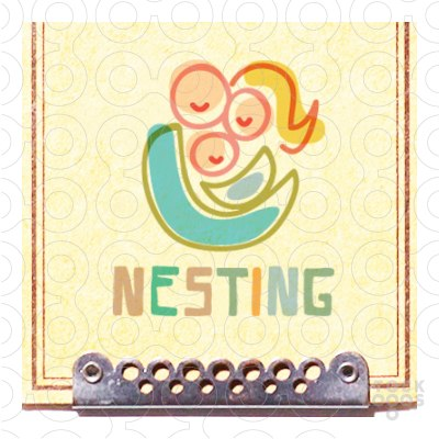 Exclusive Customizable Logo For Sale: nesting place.
